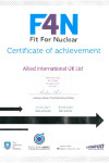 F4N - Fit For Nuclear Certificate for Allied International UK